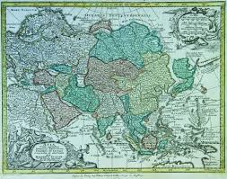 World Map Of Asia by Map Of Asia 1740