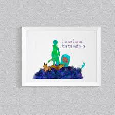 Kids Room Prints by The Little Prince Quotes Print Disney Nursery Art Print Wall