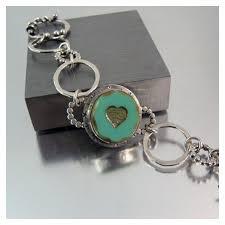 link bracelet silver images Silver link bracelet artisan made png