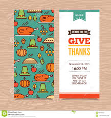 thanksgiving invitations free templates thanksgiving day invitation stock vector image 60940250