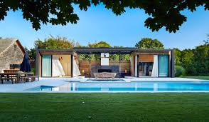 a modern pool house retreat from icrave design milk a modern pool house retreat from icrave