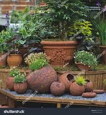 terracotta pots pottery containers terracotta pots on display stock photo