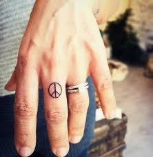 finger tattoo peace 38 super cute finger tattoos tattooblend