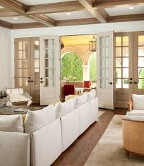 interior sliding french doors family room mediterranean with