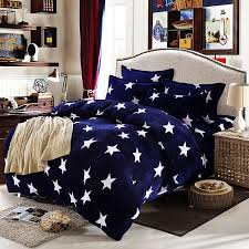 Stars Duvet Cover 2017 Fashion White And Navy Star Duvet Cover With Pillow Case