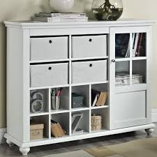 inspiring white entry table with storage using satin nickel