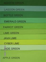 Different Shades Of Green Paint 28 Shades Of Green Color Chart Name That Color On Pinterest