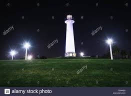 light house at night long beach harbor lighthouse at night in long beach california