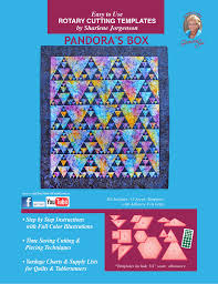 pandora u0027s box acrylic quilt template by quilting from the heartland