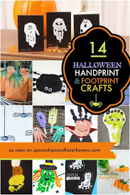 14 halloween handprint and footprint crafts spaceships and laser