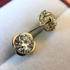 20 s earrings 3 07ctw european cut diamond clover stud earrings jewels