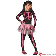 Skeleton Halloween Costume For Kids Kids U0027s Pink Punk Skeleton Costume Morph Costumes Us