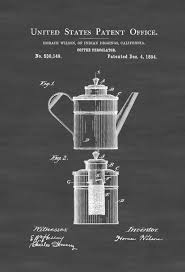 coffee percolator patent print decor kitchen decor restaurant