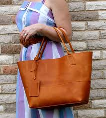 Handmade Leather Tote Bag - large leather tote bag features leather goods bubo