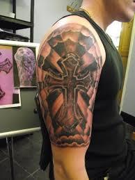 designs half sleeve drawings cross designs half sleeve
