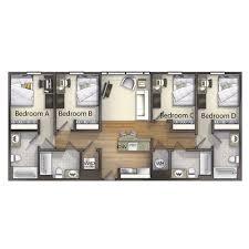 4 bedroom floor plan 4 bedroom valentine commons