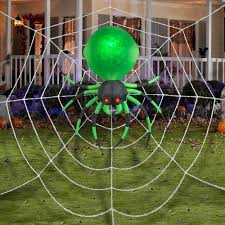 halloween spider web inflatable prop large 6 ft yard decoration