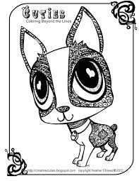 littlest pet shop coloring pages of dogs lps coloring pages creative cuties dog cutie coloring page pages