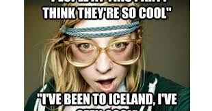 Iceland Meme - woman who dressed as hipster for halloween stunned after picture