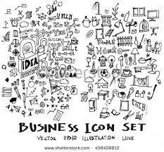 business doodles sketch vector ink stock vector 459901690
