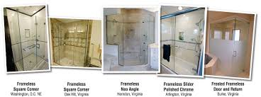 Frosted Frameless Shower Doors by Bathroom Shower Doors And Enclosures In Arlington Burke Herndon