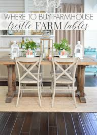Best Place To Buy Dining Room Furniture Where To Buy A Farmhouse Trestle Style Farm Table Fox Hollow Cottage