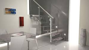 interior design trendy metallic staircase lighting idea with