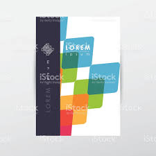 abstract letterhead cover document template colorful overlapping