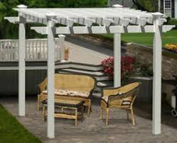 White Vinyl Pergola Kits by Two Styles Of White Vinyl Pergola Kits Outdoor Room Ideas