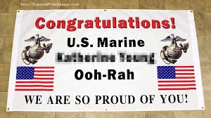 congratulations graduation banner 3ftx5ft personalized congratulations u s us marine corps basic