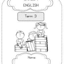 grade 1 english workbook 15 worksheets term 3 teacha