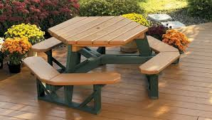 Poly Picnic Tables by Amazing Durable Picnic Tables Poly Tuff 8 Foot Step Thru Eco