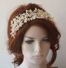pearl headpiece bridal tiara wedding tiaras wedding hair accessories bridal