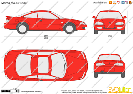 mazda mx6 the blueprints com vector drawing mazda mx 6