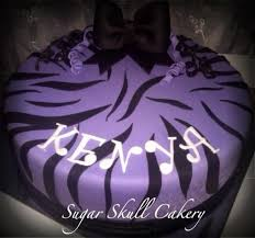 purple zebra striped birthday cake cake by shey jimenez cakesdecor