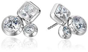 cluster stud earrings michael kors brilliance easy opulence silver tone and
