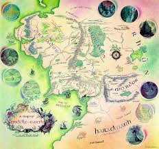 Map Book Are The Maps At The Beginning Of Each Lotr Book Hand Drawn By