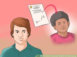how to write a character affidavit for child custody