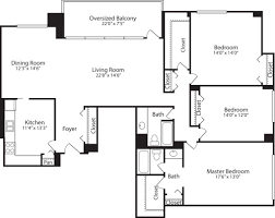 3 bedroom floor plan skyline towers apartments in baileys crossroads 5599 seminary rd