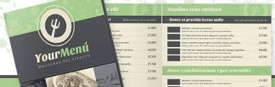 menu templates menu templates