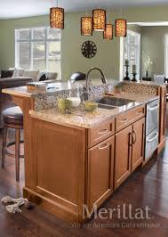 merillat kitchen islands merillat classic ralston maple hazelnut with java glaze