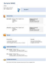 simple curriculum vitae for student cv resume format download simple student resume cv template