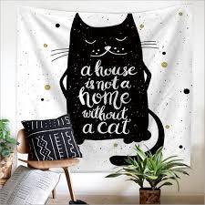 aliexpress com buy home decor polyester fabric black cat