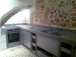 potager pour cuisine la cuisine béton plan de travail suprabéton balian beton atelier