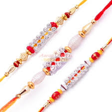 buy rakhi online delightful diamond rakhi set of 3 rakhis buy online rakhi set of 3