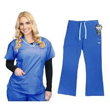 material uniforms scrubs set top and stretch
