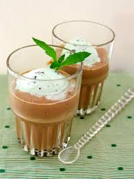 chocolate mint martini chocolate panna cotta recipe hgtv