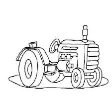 tractor vehicle coloring page tractor vehicle coloring page