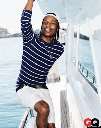 Nautical Theme Fashion - asap rocky for gq may 2013 rapper poses for nautical themed