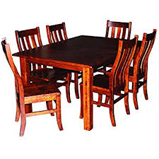 Amazoncom Aspen Tree Interiors Amish Made  Piece Solid Wood - Amish dining room table